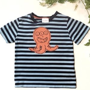 Boys Hanna Andersson striped octopus shirt, 5T